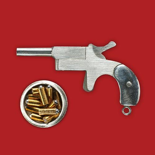 miniature silver Derringer