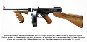Thompson submachine gun by Miniature Arsenal