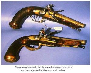 ancient flintlock guns