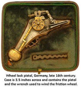 ancient miniature handguns