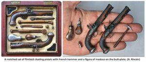 dueling pistols by Antonio Rincon